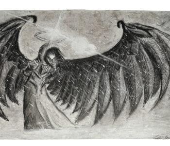 Large angel drawing.