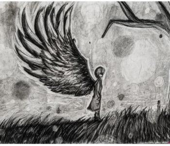 Angel with tree.